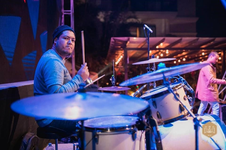man with drums
